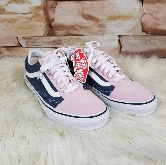 Vans Old Skool Blue Pink Sk8te Low Size